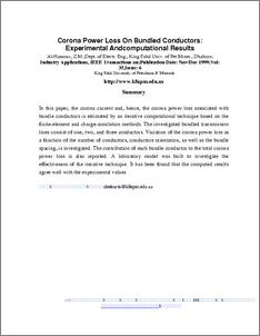 Corona power loss on bundled conductors: experimental